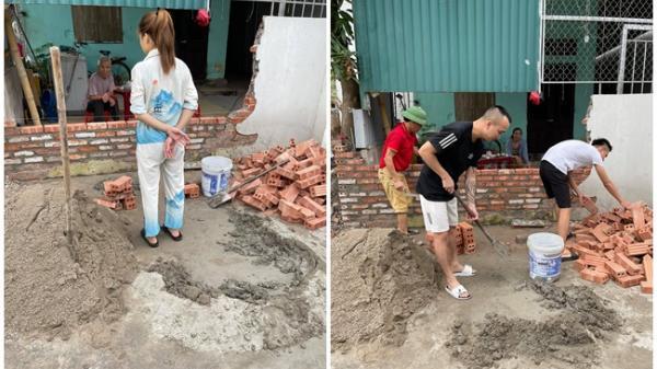 Cho vợ đi học lái xe, hôm sau chồng xách xô vữa sang xây tường mới cho hàng xóm
