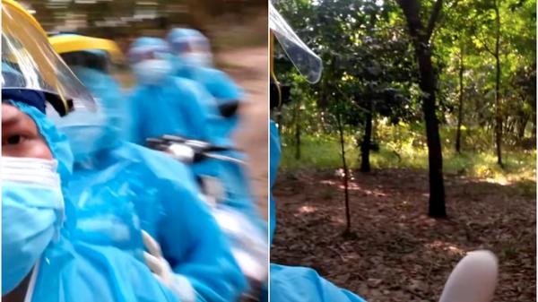 Đi theo chỉ dẫn để truy vết F0, nhân viên y tế lọt thỏm vào giữa rừng cao su, biết thủ phạm ai cũng cười xoà cho qua