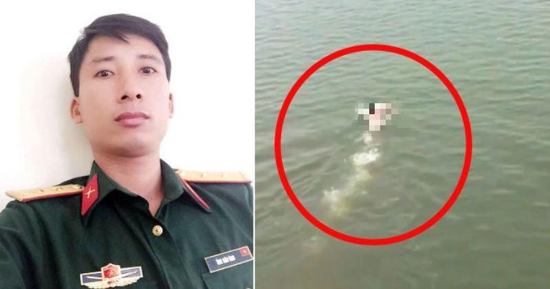 Thượng úy nhảy cầu cao 20m cứu cô gái đuối nước ở Hà Nam: 'Tôi nghĩ cứu người là trên hết nên tức tốc bơi ra'