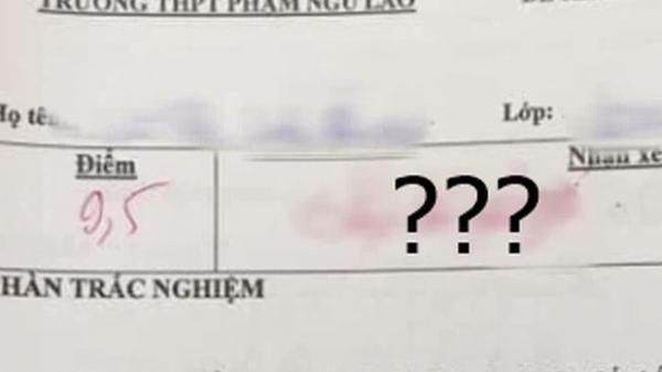 """Cô giáo chấm điểm 9,5 không quên """"cà khịa"""" thêm 4 chữ, học trò đọc xong tự thấy nhột"""