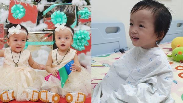 Bé Diệu Nhi được phẫu thuật hoàn chỉnh đường tiêu hóa, chị gái Trúc Nhi đi cùng để cổ vũ cực dễ thương