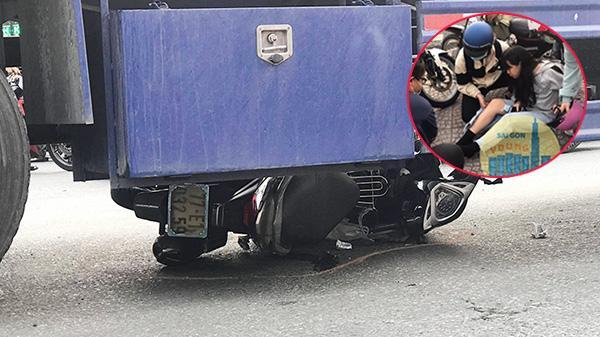 Hiện trường ám ảnh vụ nữ sinh năm nhất bị xe container cuốn vào gầm, thoát chết thần kỳ