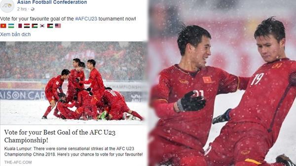 U23 Uzbekistan vô địch, AFC vẫn chọn U23 Việt Nam làm ảnh đại diện bình chọn cú sút đẹp nhất!
