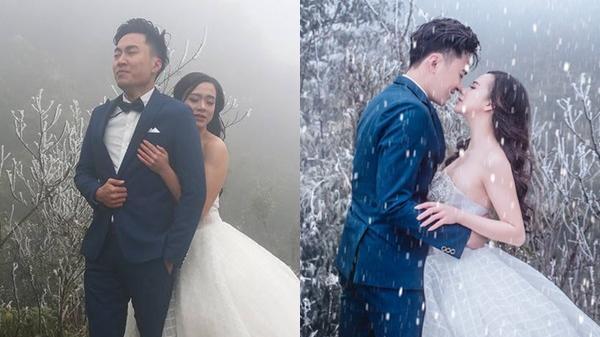 """Cặp đôi """"vươn mình trong giá lạnh"""" ở Sapa tung bộ ảnh cưới cực chất khiến dân mạng mê mẩn"""