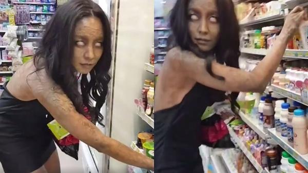 Sự thật về cô gái bị ma nhập xuất hiện ở cửa hàng tiện lợi khiến ai cũng rùng mình