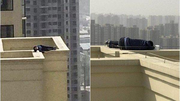Leo lên nóc nhà để tự tử nhưng lại ngủ quên