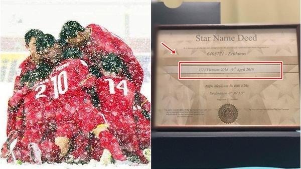 Vừa nhận thưởng tiền tỉ, U23 Việt Nam lại được fans tặng món quà giá trị 'trên trời'