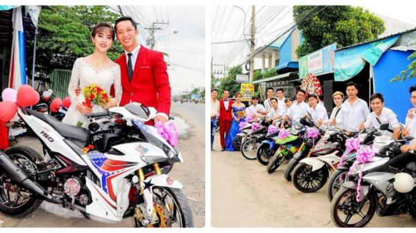 Đám cưới CỰC CHẤT với dàn Exciter THẮT NƠ ở An Giang gây xôn xao cộng đồng mạng