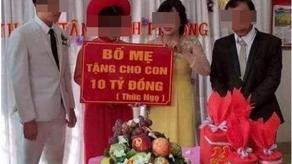 Bất ngờ gia thế 'cực khủng' của cô dâu chú rể được bố mẹ tặng 10 tỷ đồng trong ngày cưới
