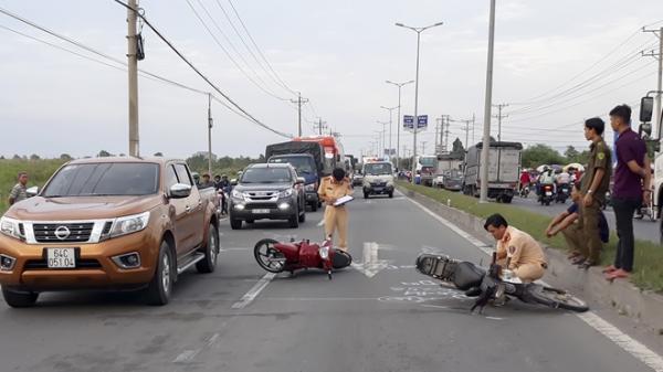 Va chạm giao thông liên hoàn nghiêm trọng hướng Vĩnh Long - Cần Thơ, ùn tắc kéo dài nhiều km trên quốc lộ