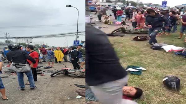 Miền Tây: Hình ảnh thảm khốc tại hiện trường vụ xe container gây tai nạn khiến 28 người th.ương v.ong
