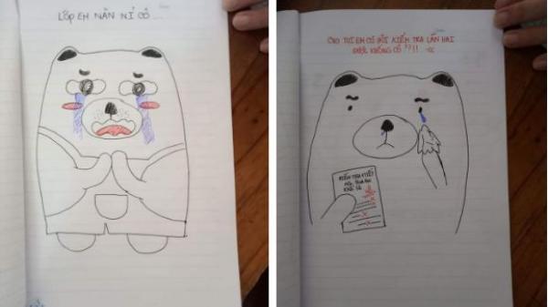 """Học sinh trường chuyên ở Vĩnh Long đáng yêu hết nấc bày trò vẽ """"tâm thư"""" năn nỉ cô giáo để được thi lại"""