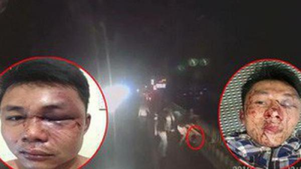 Chỉ vì bấm còi xin đường, 2 tài xế container bị nhóm côn đồ đ.ánh bầm dập