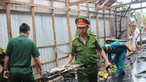 Bạc Liêu: Cận cảnh hiện trường vụ nổ bình gas, quán nhậu trâu hầm sả ra tro cùng với nhiều căn nhà bị thiêu rụi