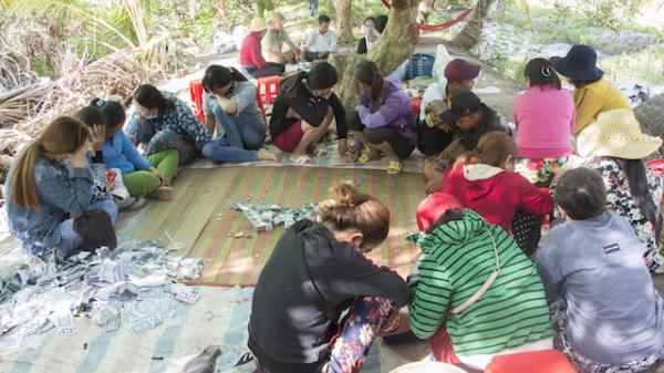 Vĩnh Long: Triệt xóa sòng bạc trăm triệu núp trong vườn trái cây, bắt hàng chục đối tượng nữ