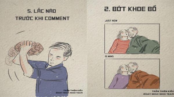 """Bộ tranh khuyên nhủ """"Lắc não trước khi Comment"""" gây sốt cộng đồng mạng"""