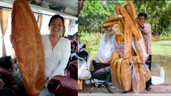 Bánh mì An Giang gây sốt với kích thước khủng: dài 1,2m, nặng 3,5kg