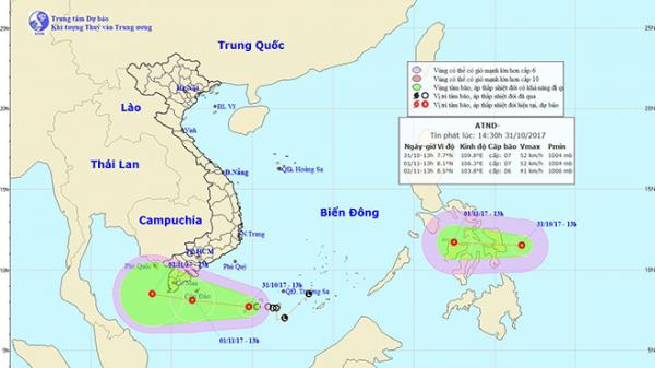 Lại thêm áp thấp nhiệt đới chuẩn bị vào Biển Đông: Nam Bộ mưa to kéo dài