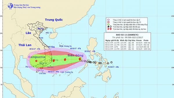 Bão Damrey quét qua miền Nam, cảnh báo gió giật cấp 14