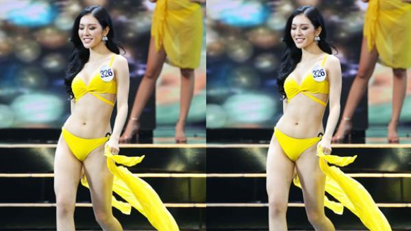 Người đẹp An Giang - Bùi Lý Thiên Hương với màn trình diễn bikini nóng bỏng nhất bán kết Hoa hậu Hoàn vũ