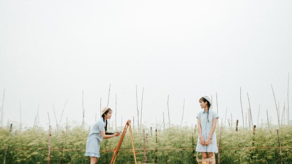 Nhìn bộ ảnh đẹp rụng rời ở Bắc Giang không tin được nơi phong cảnh thơ mộng thế này lại là cánh đồng rau ai cũng biết!
