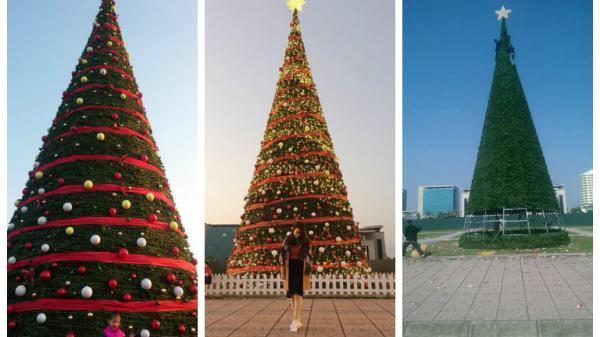 Cây thông Noel khổng lồ ở quảng trường 3/2: Địa điểm check in hot nhất mùa Giáng sinh này ở Bắc Giang