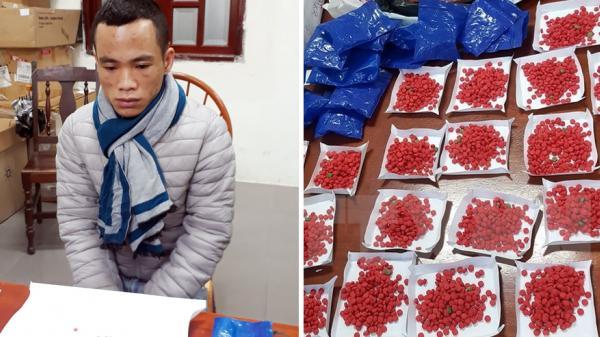 Bắc Giang: Bắt quả tang đối tượng tàng trữ gần 1.500 viên ma túy tổng hợp