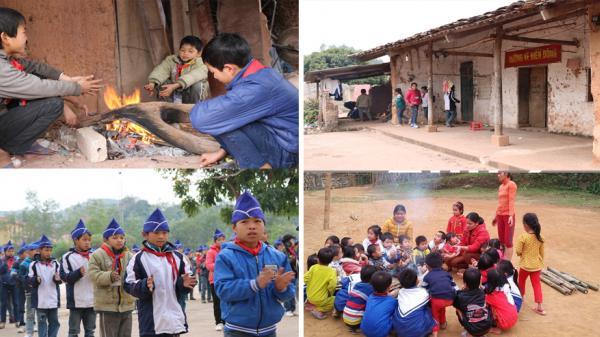 Học sinh vùng cao ở Bắc Giang chống chọi với trời rét 6 độ để đến trường
