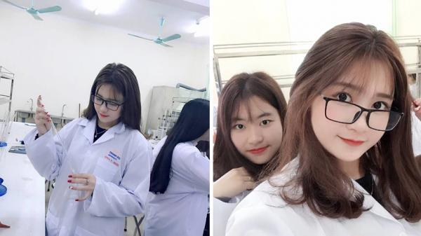 """Cận cảnh nhan sắc nữ sinh Y Dược xinh đẹp đến từ Bắc Giang khoe ảnh vào phòng thí nghiệm gây """"sốt"""" MXH"""