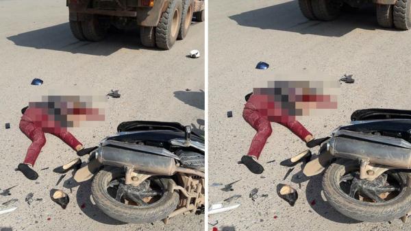 TP Bắc Giang: Dừng chờ đèn tín hiệu, 1 phụ nữ bị xe tải đâm tử vong
