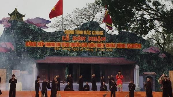 Bắc Giang: Lễ hội chùa Vĩnh Nghiêm thu hút hàng nghìn du khách