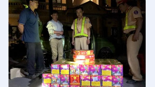 Bắc Giang: Bắt 2 đối tượng vận chuyển 137,5 kg pháo nổ và pháo hoa