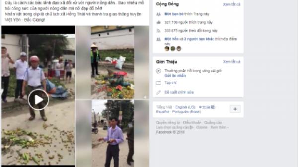 Chủ tịch xã dẹp hàng hoa quả ở Bắc Giang: Lời thật chủ tịch xã