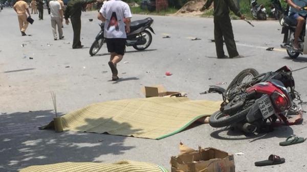 Đối đầu xe tải, 2 thanh niên đi xe mang BKS Bắc Giang t.ử vong tại chỗ