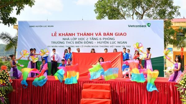 Vietcombank tài trợ 3 tỷ đồng xây trường học tại Lục Ngạn (Bắc Giang)