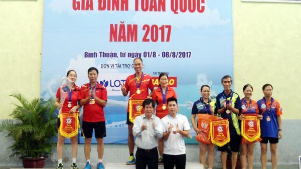 Bắc Giang giành 8 huy chương tại Giải bóng bàn, cầu lông gia đình toàn quốc