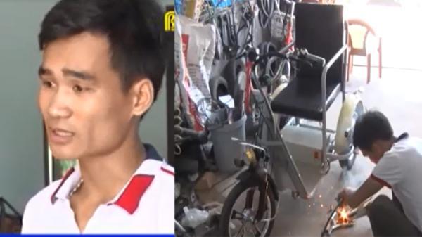 Thanh niên miền núi ở Bắc Giang chế tạo xe lăn điện cho người khuyết tật