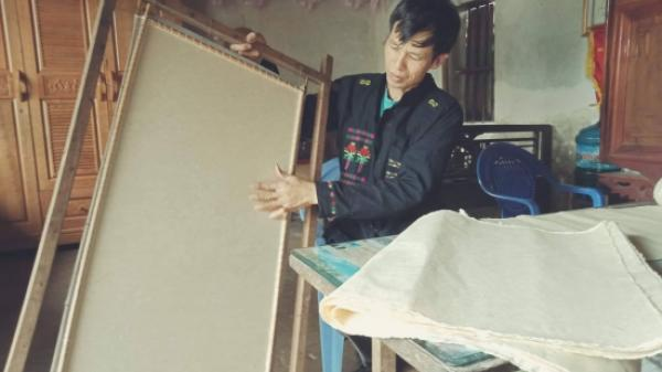 Độc đáo nghề làm giấy dó của đồng bào dân tộc Cao Lan, Bắc Giang