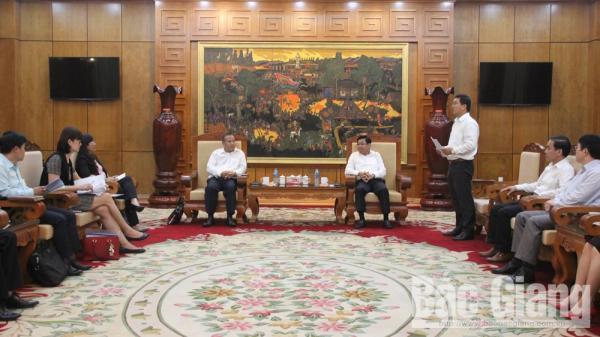 Tăng cường quan hệ hợp tác giữa tỉnh Bắc Giang với đối tác Nhật Bản