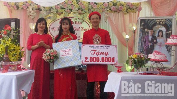 """Đám cưới """"văn minh, tiết kiệm"""" tại TP Bắc Giang"""": Mời ít khách, làm ít cỗ, không dựng rạp"""