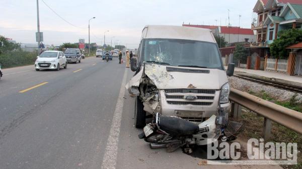 Bắc Giang: V.a chạm giao thông trên Quốc lộ 1, một người bị tr.ọng thương