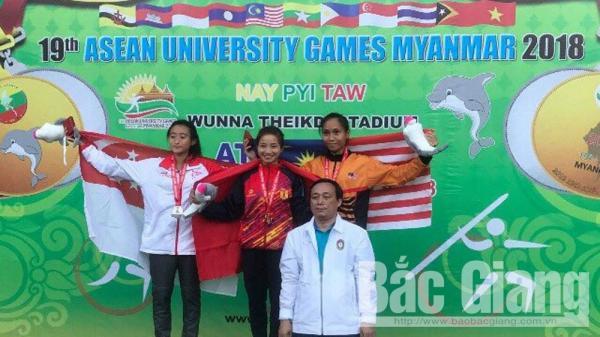 VĐV Bắc Giang giành cú đúp HCV điền kinh Đại hội thể thao sinh viên Đông Nam Á