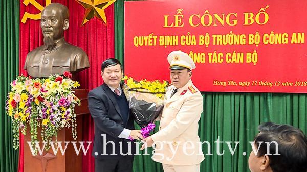 Hưng Yên có Phó Giám đốc Công an mới