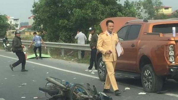 Đ.âm vào đuôi xe bán tải, 2 nam thanh niên t.ử vo.ng tại chỗ trên cao tốc Hà Nội - Bắc Giang