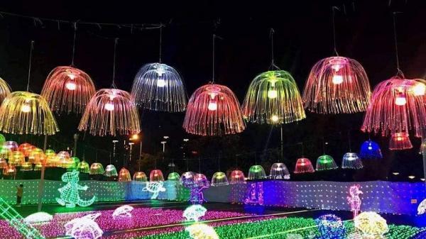 Lần đầu tiên Bắc Giang trình chiếu hiệu ứng ánh sáng nghệ thuật với tổng kinh phí là 6 tỷ đồng