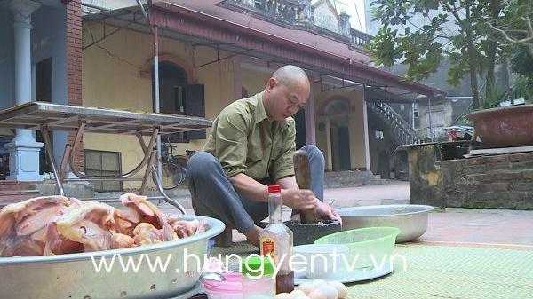 Chả gà Tiểu Quan - món ngon cầu kỳ ngày tết ở Khoái Châu, Hưng Yên