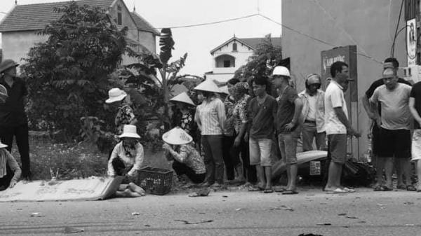 Hưng Yên: V a chạm với xe tải, người đàn ông đi xe máy t ử v ong tại chỗ