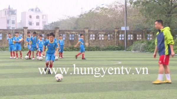 Đội bóng đá nhi đồng Hưng Yên chuẩn bị tham dự Đại hội bóng đá tại Nhật Bản