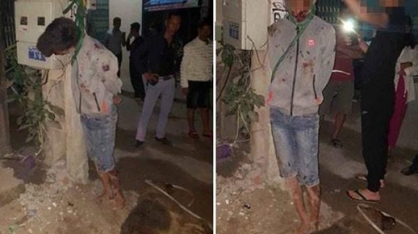 Công an giải cứu nam thanh niên sinh năm 2001 trộm chó bị dân treo cổ vào cột điện ở Bắc Giang