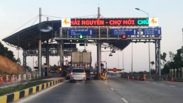 Thông báo bảng giá chi tiết thu phí tuyến đường Thái Nguyên - Chợ Mới